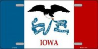 Iowa State Flag Metal License Plate