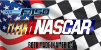 Nascar And Ford F-150 Checkered Flag Photo License Plate