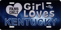 This Girl Loves Kentucky Metal License Plate