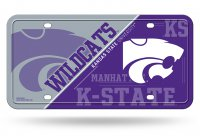 Kansas State Wildcats Metal License Plate