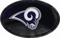Los Angeles Rams Chrome Die Cut Oval Decal