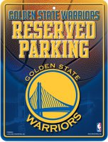 Golden State Warriors Metal Reserved Parking Sign