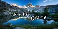 Amazing Grace Mountain Lake Scene Photo License Plate