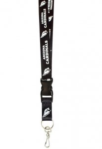 Arizona Cardinals Blackout Lanyard With Safety Latch