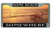 """Some Beach - Somewhere"" Custom Frame"