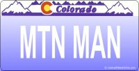 Design It Yourself Colorado State Look-Alike Bicycle Plate