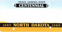 Design It Yourself North Dakota State Look-Alike Bicycle Plate#2