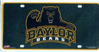Baylor Bears Metal License Plate