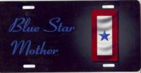 Blue Star Mother License Plate