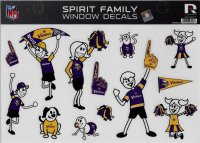 Minnesota Vikings Family Spirit Decal Set