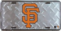 San Francisco Giants Diamond License Plate