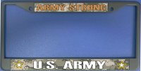 Army Strong Photo License Plate Frame