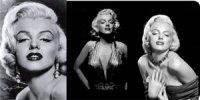 Marilyn Monroe 3 Picture Photo Plate
