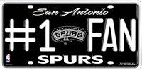 San Antonio Spurs #1 Fan License Plate
