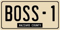 Boss-1 Hazzard County Photo License Plate