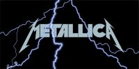 Metallica Lightning License Plate