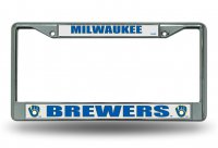 Milwaukee Brewers Chrome License Plate Frame