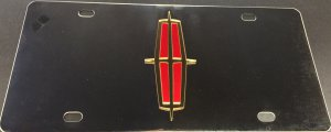 Lincoln Red and Gold Logo Stainless Steel Plate