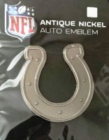 Indianapolis Colts Antique Nickel Auto Emblem