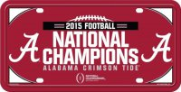 Alabama 2015 National Championship Metal License Plate