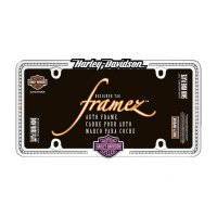Harley Davidson Pink Bar and Shield Bling License Plate Frame