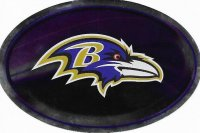 Baltimore Ravens Chrome Die Cut Oval Decal