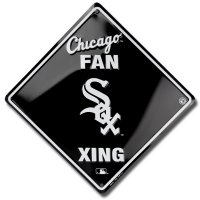 Chicago White Sox Xing Metal Parking Sign