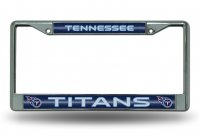 Tennessee Titans Glitter Chrome License Plate Frame