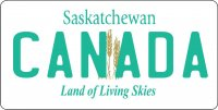 Saskatchewan Canada Photo License Plate