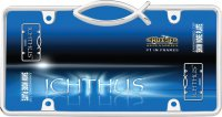 Ichthus Jesus Fish Chrome License Plate Frame