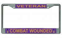 Combat Wounded Veteran Photo License Plate Frame