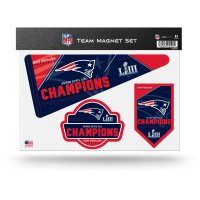 New England Patriots Super Bowl Champs Team Magnet Set