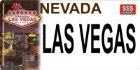 Nevada Las Vegas Photo License Plate
