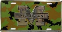 Michigan Wolverines Chrome License Plate