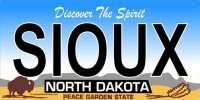 ND Sioux Photo License Plate