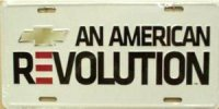 Chevrolet An American Revolution License Plate