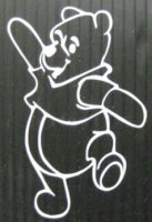 "Pooh White 4"" x 4"" Decal"