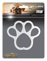 3D Cals Paw Chrome Plastic Decal