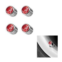 Alabama Crimson Tide Chrome Valve Stem Caps