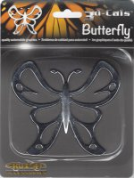 Butterfly Chrome Auto Emblem