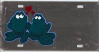 Frogs in Love Offset Mirror License Plate