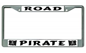 Road Pirate Chrome License Plate Frame