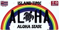 Aloha Turtle Hawaii Metal License Plate
