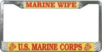 U.S. Marine Wife License Plate Frame