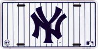 New York Yankees (White Pinstripe) License Plate