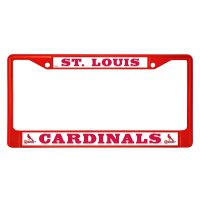 St. Louis Cardinals Anodized Red License Plate Frame