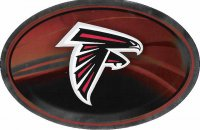 Atlanta Falcons Chrome Die Cut Oval Decal