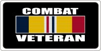 Combat Veteran Ribbon Photo License Plate