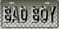 Bad Boy Metal License Plate