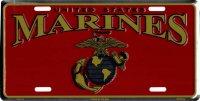 NCAA Colorado State Rams #1 Fan Metal License Plate Tag Rico Industries Inc MTF500201